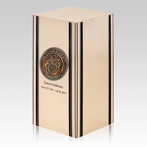 Liberty Marines Bronze Military Cremation Urn