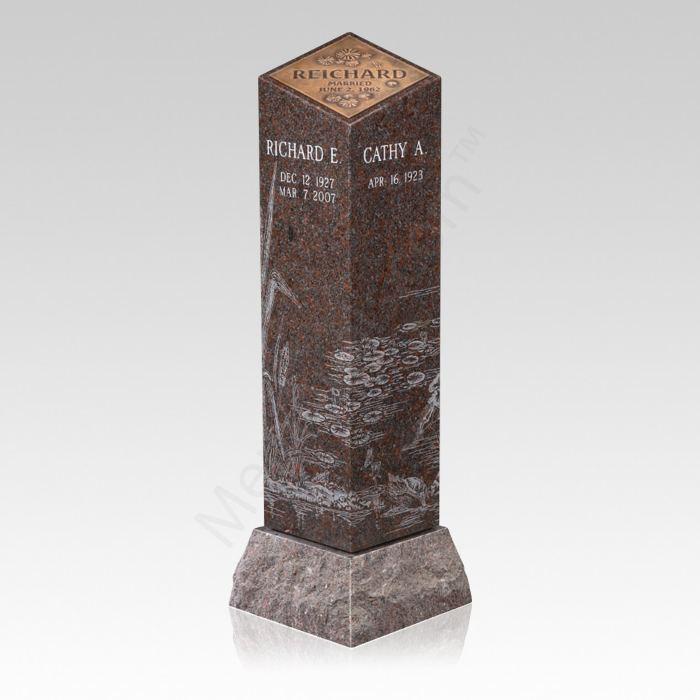 Lilly Pad Carnelian Cremation Pillar