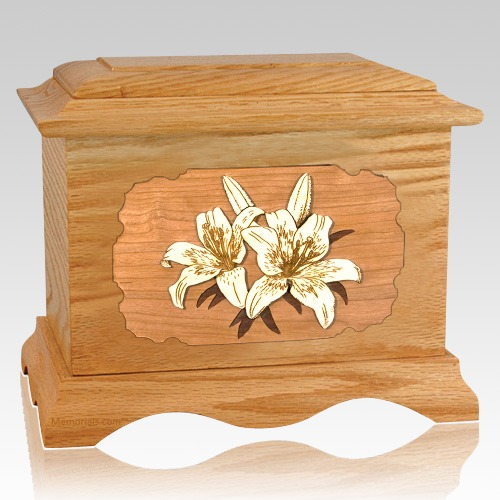 Lily Oak Cremation Urn
