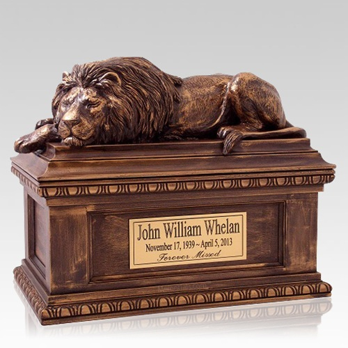 Lion Cremation Urn
