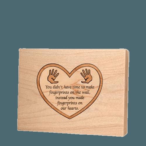 Little Hands Children Keepsake Wood Urn