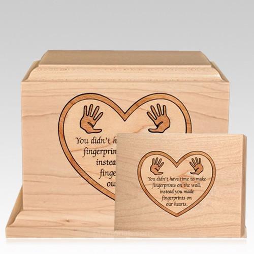 Little Hands Children Wood Cremation Urns