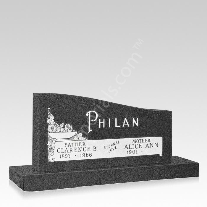 Love Forever Companion Granite Headstone
