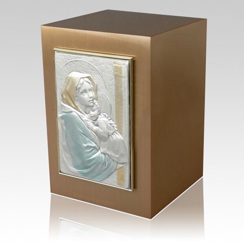 Madonna with Child Bronze Cremation Urn