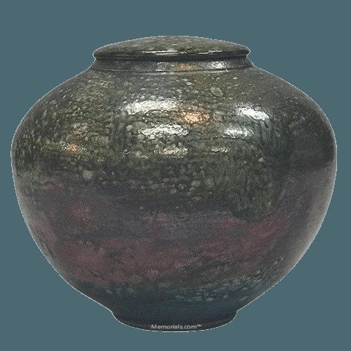 Magnitude Raku Cremation Urn