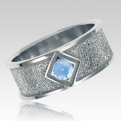 March Birthstone Sterling Silver Ring Print Keepsakes