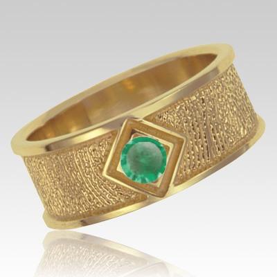 May Birthstone 14k Yellow Gold Ring Print Keepsake