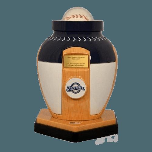 Milwaukee Brewers Baseball Cremation Urn