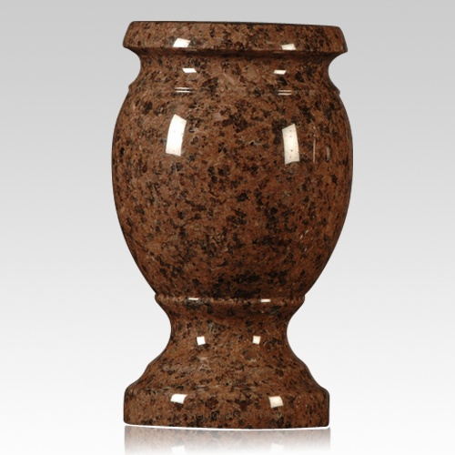 Missouri Red Granite : Missouri red granite vase