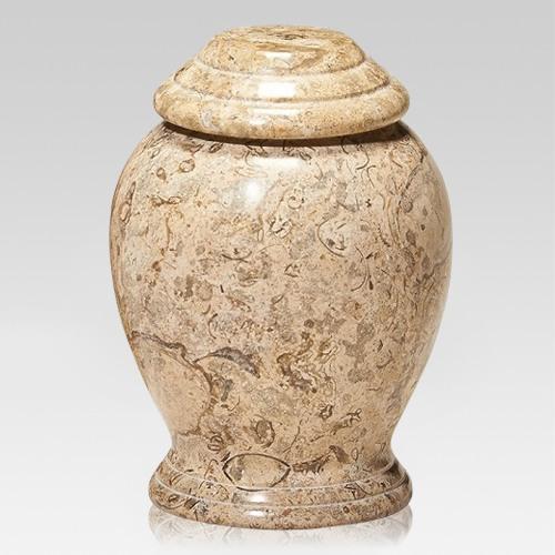 Modern Fossil Marble Pet Urn