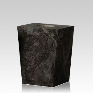 Black Satin Modern Granite Vase