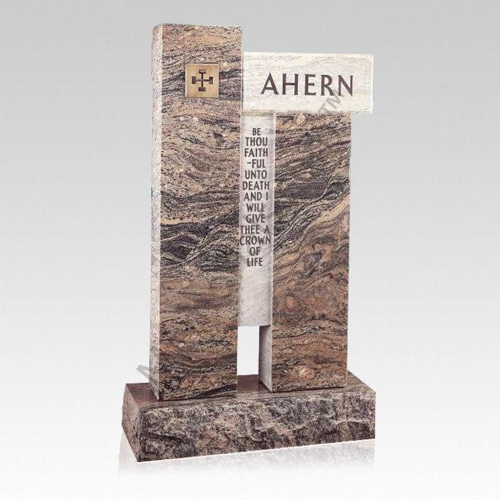 Modern Upright Cemetery Headstone