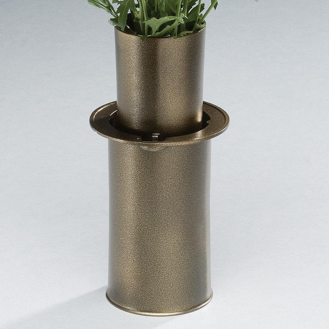 moderne antique bronze cemetery vase. Black Bedroom Furniture Sets. Home Design Ideas