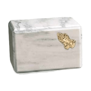 Montenegro Praying Hands Marble Cremation Urn