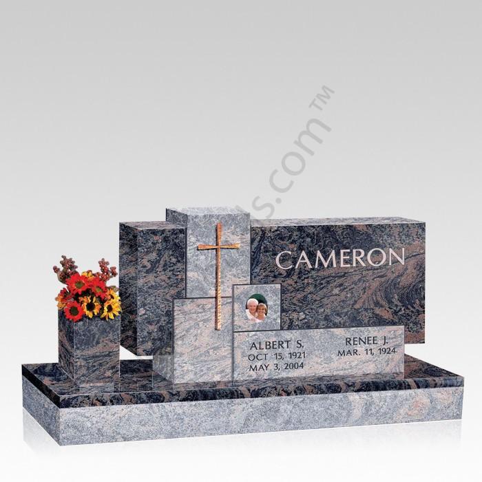 Monter Upright Cemetery Headstone