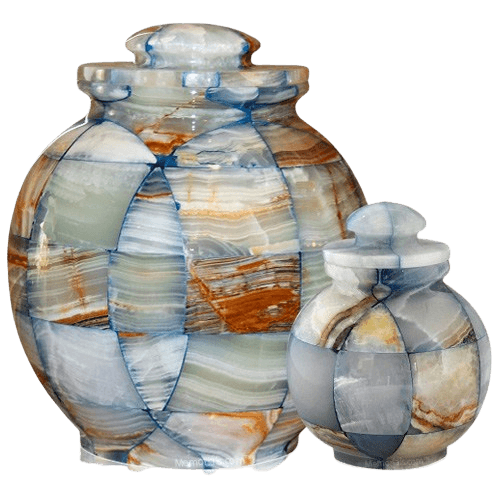 Mosaic Blue Cremation Urns