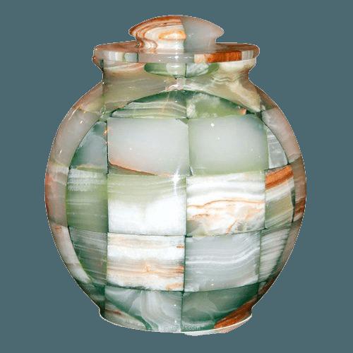 Mosaic Green Cremation Urn