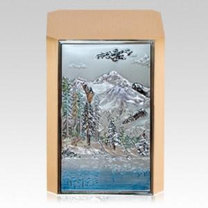 Mountain Lake Bronze Cremation Urn