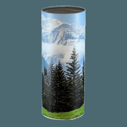 Mountain Scattering Medium Biodegradble Urn