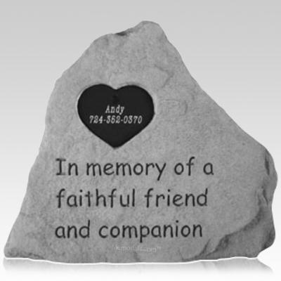 My Heart Pet Memorial Stone