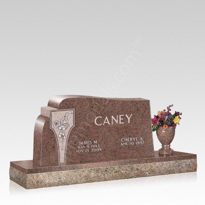 My Love Upright Cemetery Headstone