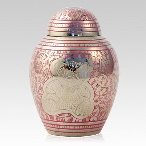 My Pink Teddy Childrens Cremation Urn