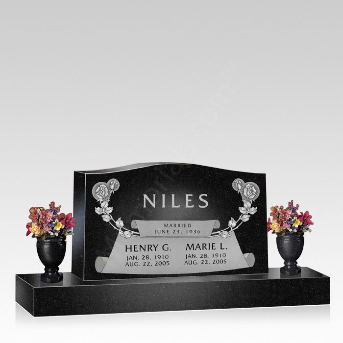 Mythos Upright Cemetery Headstone