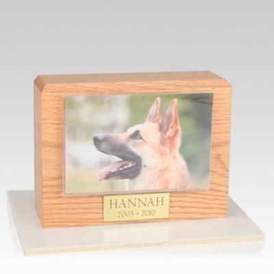 Oak Picture Pet Cremation Urns