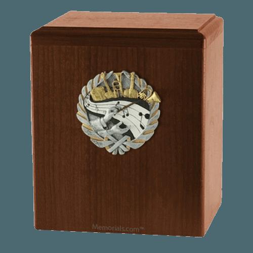 Orchestra Walnut Cremation Urn