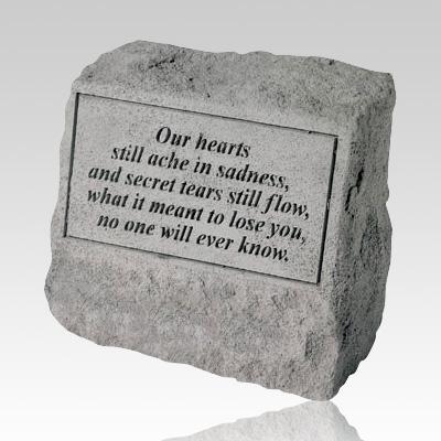Our Hearts Still Ache Cremation Gravestone