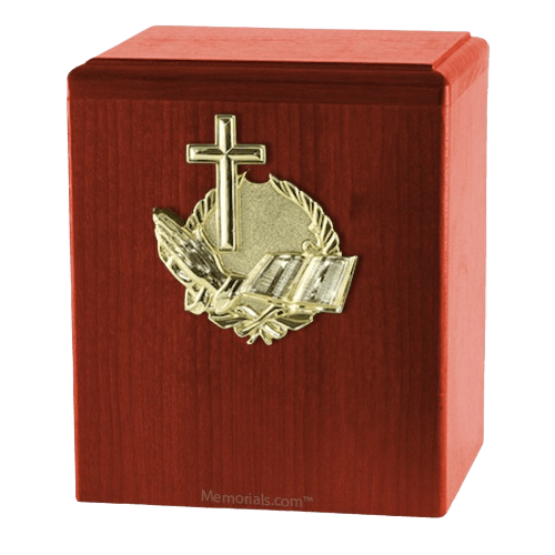 Our Prayer Cherry Cremation Urn