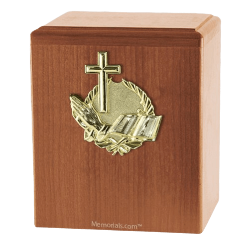 Our Prayer Light Cherry Cremation Urn