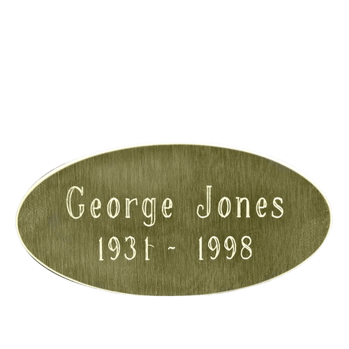 Oval Urn Engraving Plate