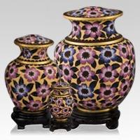Palace Bloom Cloisonne Cremation Urns