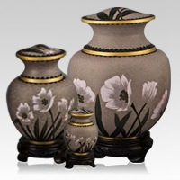 Palace Lily Cloisonne Cremation Urns