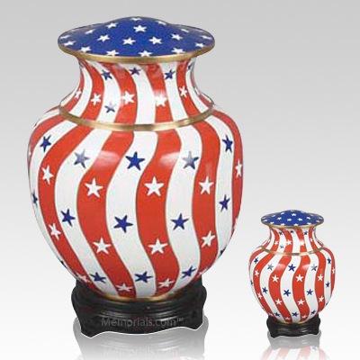 Palace Patriotic Cloisonne Cremation Urns