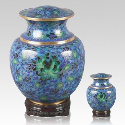 Palace Blue Cloisonne Cremation Urns