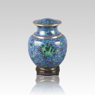 Palace Blue Small Cloisonne Urn