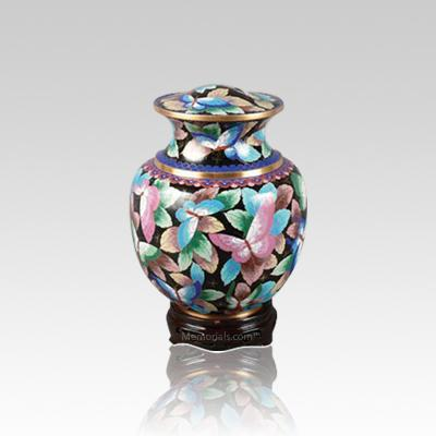 Palace Butterfly Small Cloisonne Urn