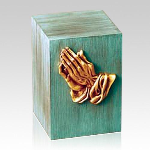 Patina Prayer Childrens Cremation Urn