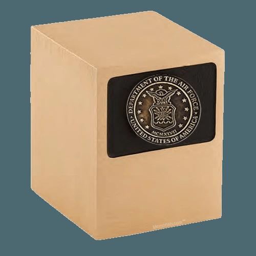 Patriot Air Force Bronze Military Urn