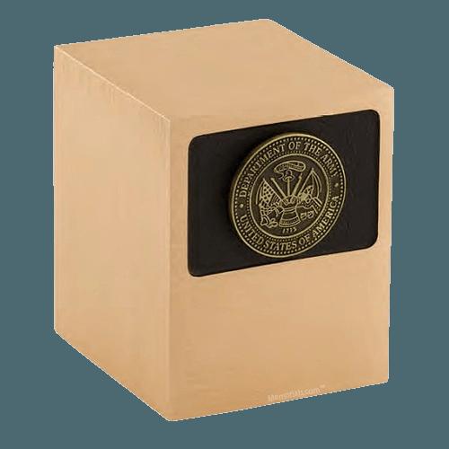 Patriot Army Bronze Military Urn