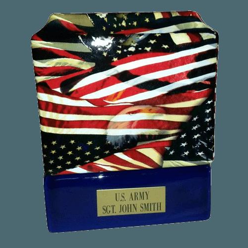 Patriot Ceramic Military Urn