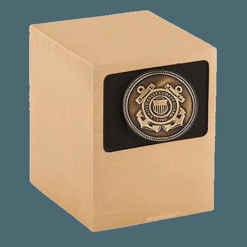 Patriot Coast Guard Bronze Military Urn
