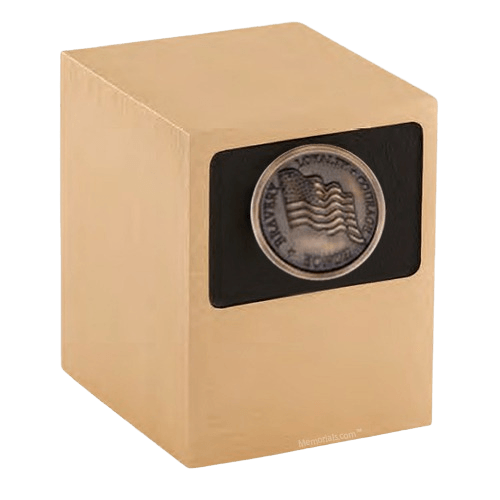 Patriot Flag Bronze Military Urn