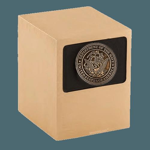 Patriot Navy Bronze Military Urn