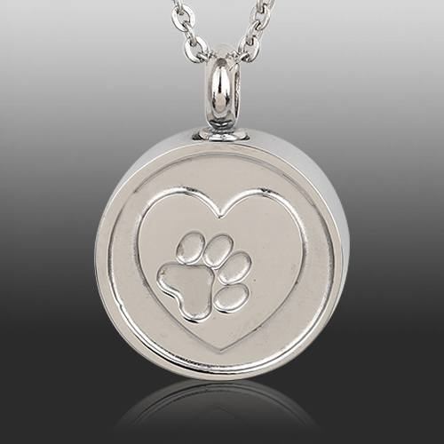 Paw Cremation Necklace
