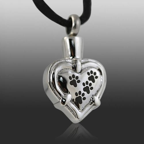 Paw Heart Cremation Jewelry