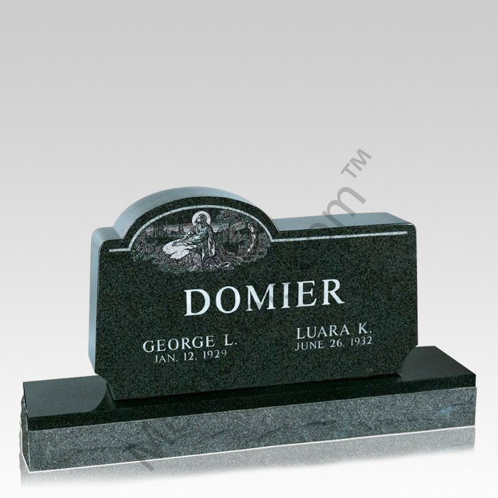 Peace in Us Companion Granite Headstone