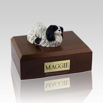Pekingese Black & White Dog Urns